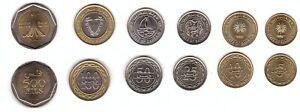 Bahrain - set 6 coins 5 10 25 50 100 500 Fils 1992 - 2001 UNC Lemberg-Zp