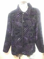 Chico Reversible Black White Quilted Open Front Jacket Blazer Women's 2 / L 12