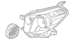 Genuine Toyota Headlight (Right) 81130-74090