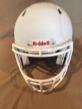 Riddell Revo Speed Matte White Helmet With White Mask, New ,Large