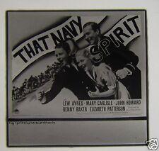 Glass Magic Lantern Slide THAT NAVY SPIRIT FILM CINEMA ADVERT 1937 KURT NEUMANN