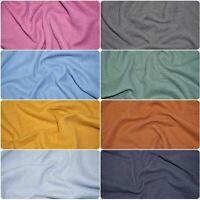 Double Gauze 100% Cotton Fabric Dressmaking Plain Lightweight Muslin, 9 Colors