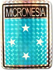 Wholesale Lot 12 Micronesia Country Flag Reflective Decal Bumper Sticker