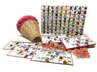 Tombola napoletana con smorfia con 48 cartelle gioco da tavolo natalizio 21439