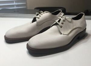 *32*COLE HAAN Cream Suede Oxford Shoes Cream Lace Up Men Sz 10 M