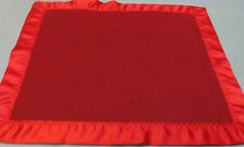 HAND CRAFTED BRICK RED FLEECE MINI BLANKET 19 X 20 W/RED WRIGHTS SATIN BINDING