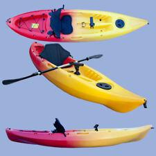 Single Sit on Fishing Kayak Canoe Red Yellow Camo Sea Ocean Kayaking