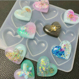 Heart Silicone Pendant Mold Necklace Jewelry Resin Mould Casting Craft DIY Tool