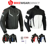 Leather Motorbike Motorcycle Jacket With CE Armour Sports Racing Biker Thermal
