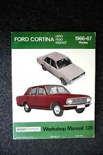"FORD CORTINA "" 1300~1500~1500GT '  1966 to 1967 SERVICE and REPAIR MANUAL  vgc"