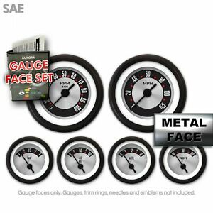 Gauge Face Dress-Up Decal Kit SAE OG Retro Hot Rod Instrument Cluster Custom V8