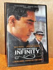 The Man Who Knew Infinity (DVD, 2016) Dev Patel Jeremy Irons Malcolm Sinclair NE