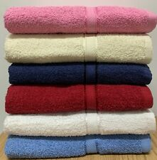 "Springfield Linen 6-Pack Bath Towels - Extra-Absorbent - 100% Cotton - 27"" x 54"""