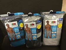 FRUIT OF THE LOOM MEN BOXER BRIEFS 9 IN A PACK ASST COLORS 100% COTTON OR BLAND