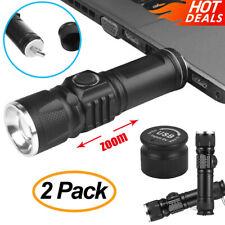 2X Super Hell 50000lm Taktische LED Taschenlampe USB Wiederaufladbare Fackel DHL