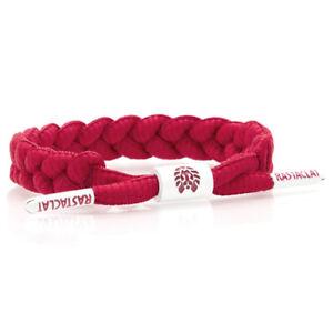 RASTACLAT Fire Red Classic Shoelace Wristband Bracelet NEW