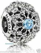 Disney Pandora Cinderella Snow Flake Wish Charm Sterling & Cz Free Priority Ship