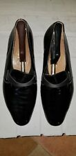 BALLY BLACK PATENT LEATHER MEN'S SHOES, PUMPS,SIZE 10 1/2 M, MADE IN FRANCE