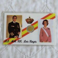 SPAIN 1980 GOLD 11mm 100 PESETA MEDAL MINATURE - sealed pack