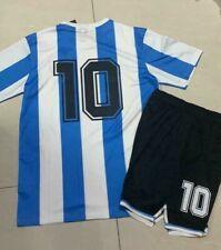 Completo Maglia+Pantaloncini Argentina Maradona 10 WorldCup 1986 Personalizzato