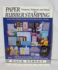 Paper Projects Patterns and Ideas for Rubber Stamping Back Street Design 1992