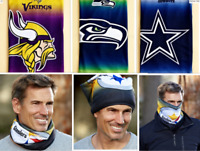 NFL Fleece Lined Warm Face Scarf Minnesota Vikings Football Team Fan Gift NEW