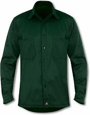 Collared Patternless Long Sleeve Casual Other Tops for Men