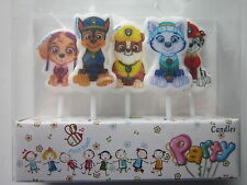 5 x Paw patrol Baby Shower Cartoon Candles Happy Birthday Party Cake Decorations