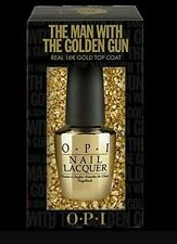OPI The Man With The Golden Gun 18K Gold LIMITED Ed Top Coat Skyfall NEW IN BOX
