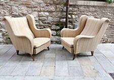 Mid century Pair Lounge chairs Gio Ponti for ISA Bergamo italy 1950s
