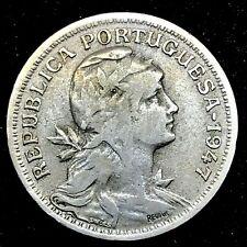 PORTUGAL COIN 50 CENTAVOS 1947 COPPER / NICKEL KM#577.