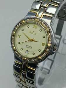 Bulova Sapphire 1D01M Date Indicator Vintage Quartz Watch