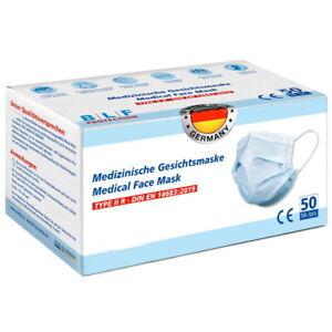 100 Stk. Medizinische Gesichtsmaske 3-lagig, TYPE II R, Made in Germany! EN14683
