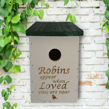 Bird Box Robins appear when loved ones are near Personalised With Any Message