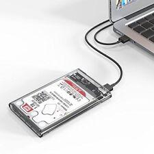 """External Backup Hard Drive Case 2TB USB 3.0 Enclosure 2.5"""" Portable HDD/SSD Sata"""