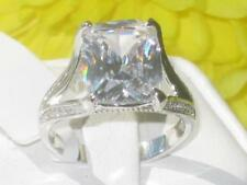 Cushion Solitaire Costume Rings