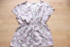 b2092c7e76 BODEN spot pattern summer silk short sleeve top size 8 . NEW