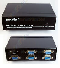 VGA 4 Ports Splitter 1 in Four Out 205Mhz 1 PC to 4 Monitor Box