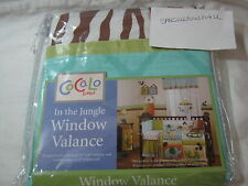 New Cocalo Baby In The Jungle Window Valance Nip
