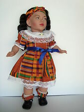 "Talking Portrait AFRICAN AMERICAN Kente Dress 19"" Doll of ZAMIKA MARTIN - Mint"
