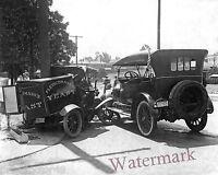 Photograph  Vintage  Car Accident California Fleischmanns Truck Year 1916  8x10