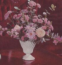 Vintage Crochet PATTERN Milk Glass Flower Vase Jar