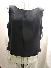 Pendleton Tank Top Silk Shell Sleeveless Shirt Black Lined New  Size 16 $98.00
