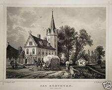 Leipzig Der Kuhturm   Sachsen echter alter Stahlstich 1844