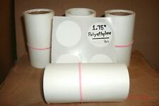 "(300) ROUND WHITE 1.75""  PRICE STICKERS /TAG / LABEL YARD / GARAGE SALE USA MADE"