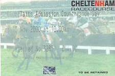 Cheltenham 10 Nov 2000 Horse Racing Ticket