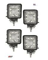 4X 24W 10-30V 8 LED WORK FLOOD BEAM LAMPS NEW HOLLAND MASSEY FERGUSON JCB BOBCAT