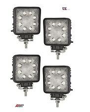 4X 24W 10-30V 8 LED WORK FLOOD BEAM LAMPS NEW HOLLAND MASSEY FERGUSON JCB BOBCAT