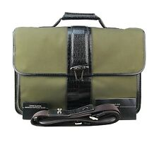 MONTBLANC NIGHTFLIGHT ALLIGATOR EMBOSSED LEATHER KHAKI BRIEFCASE BAG 103610 NEW