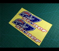 2 Pics 27 Aussie star Casey Stoner motoGP Fuel tank Reflective Decal Sticker #01